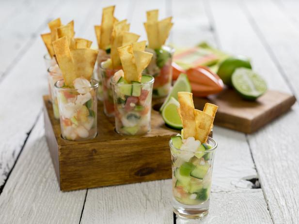 Zesty Ceviche Tortilla Strips
