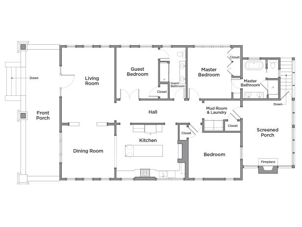 Discover the floor plan for hgtv urban oasis 2017 hgtv for Diy home floor plans