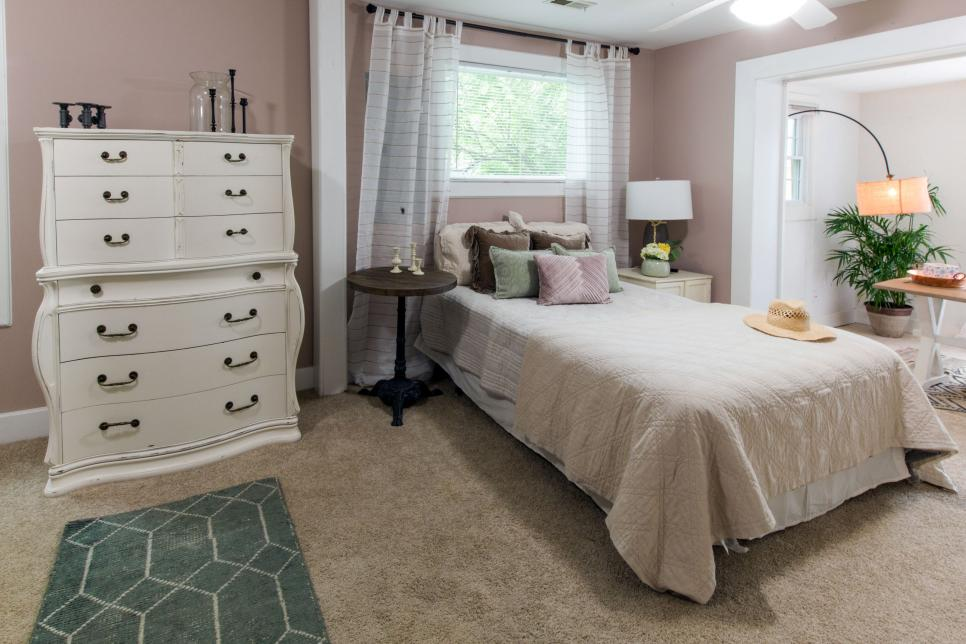 Neutral Bedroom with White Dresser