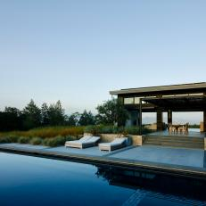 Modern Home, Pool in California Wine Country