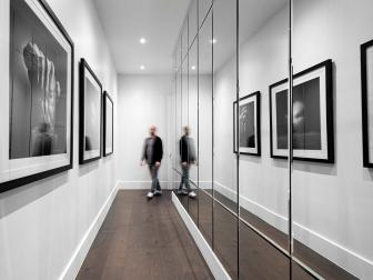 Black and White Modern Hall With Photos