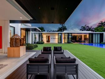 Contemporary Patio is Chic, Welcoming