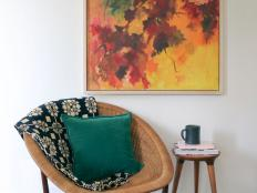 Sometimes you can find a diamond in the rough when thrifting for artwork – you just have to look past the bad frames. Upgrade an old canvas painting into a modern work of art with a simple DIY frame.