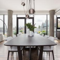 Modern Dining Table and Chair Seats Ten