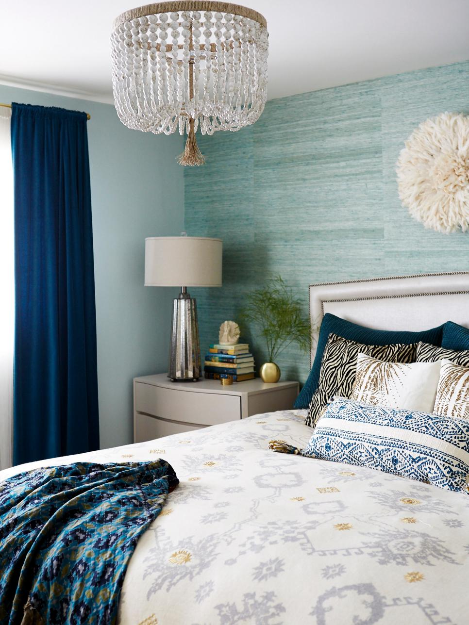Blue Contemporary Bedroom