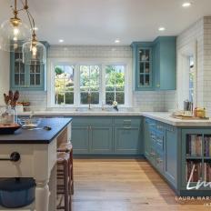 blue cottage kitchen photos hgtv