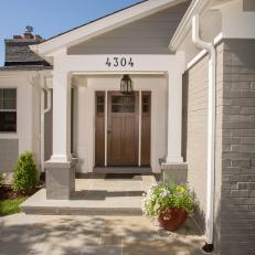 Modern-Rustic Ranch's Front Entrance