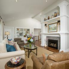 Focal Wall in Neutral Living Room Adds Personality