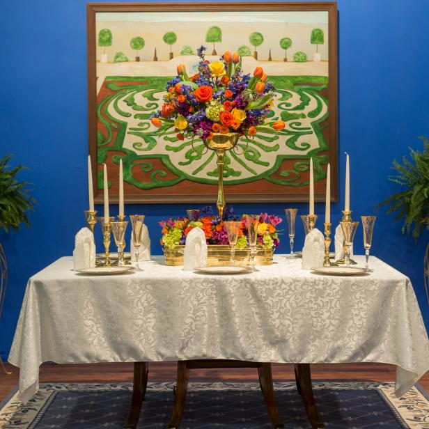 Multi-colored Floral Tablescape