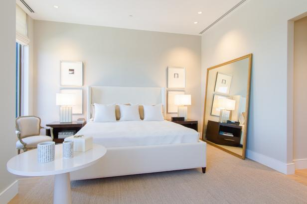 Classic White Bedroom in a Condo
