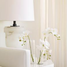White Lacquer Table and Floral Blooms