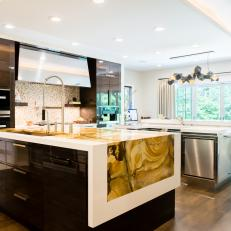 Contemporary Chef Kitchen With Two Islands