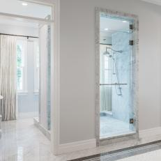 Spa Bathroom With Central Walk-In Shower