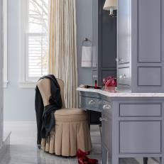 Gray Dressing Table and High Heels