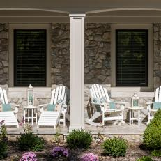 Porch With Adirondack Chairs
