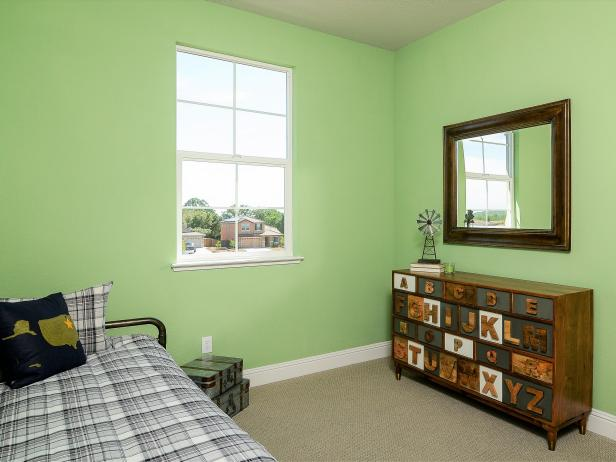 green country style kids room with alphabet dresser - Bedroom Country Style