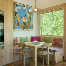 Dining Nook With Cowgirl Art