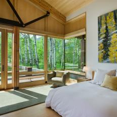 Rustic Guest Bedroom With Aspen View