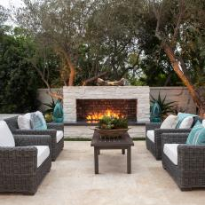 Outdoor Sitting Area Shines With Symmetry