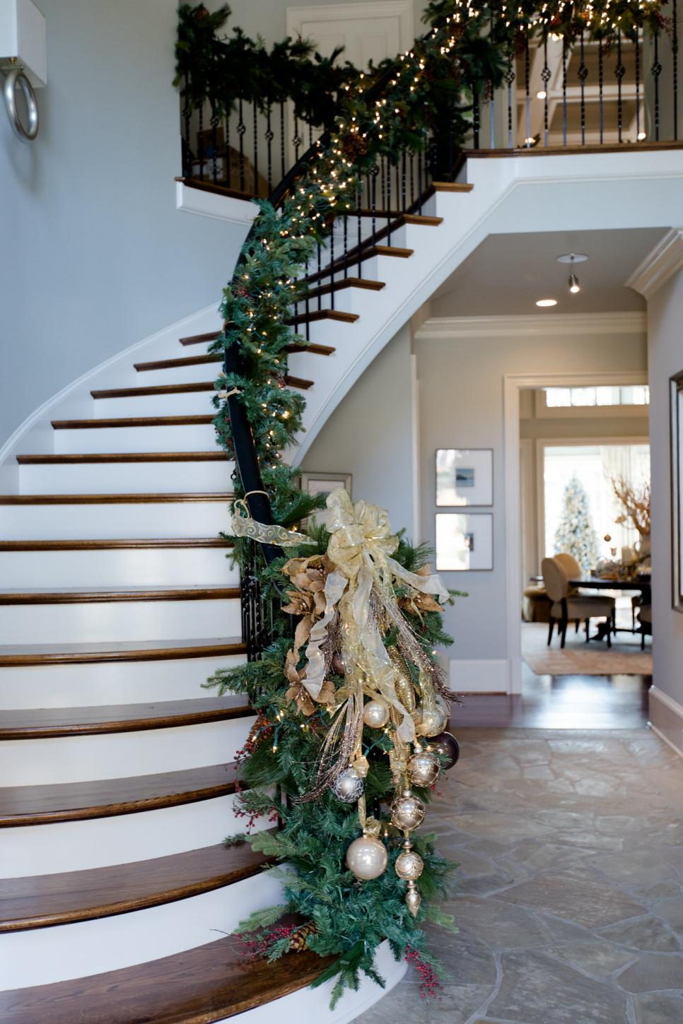 traditional neutral foyer