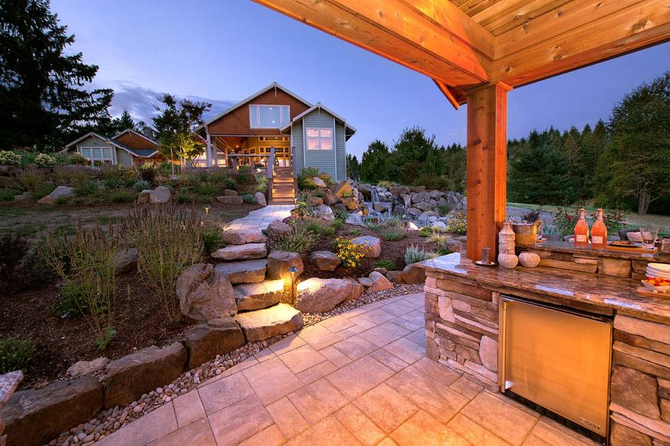 rustic outdoor lounge