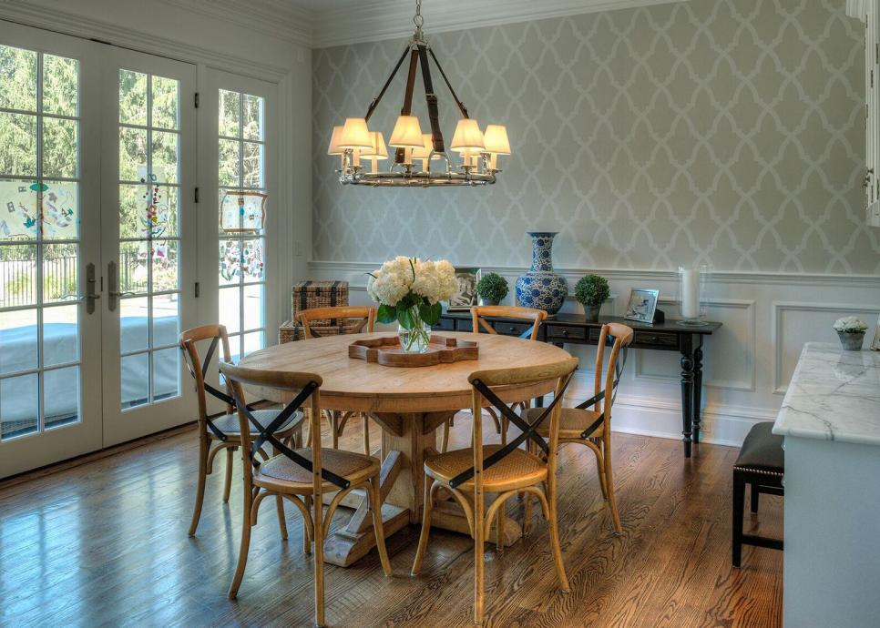Gray Green Cottage Dining Room