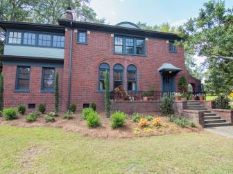 Brick Home Exterior with New Landscaping