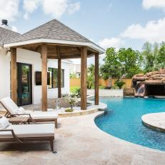 Resort-Style Backyard With Lazy River