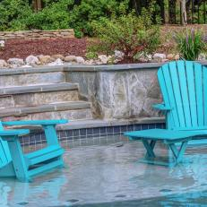 Relaxation in Partially Submerged Chairs on Pool Platform