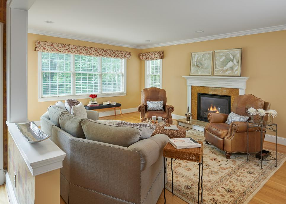 Family Room With Contemporary Upholstered Furnishings