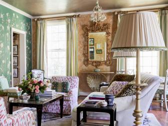 Antique Living Room with Eclectic Flair