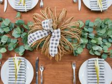 Rope in those fall feels with this rustic pumpkin centerpiece.
