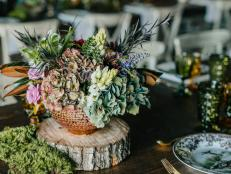 Rustic Thanksgiving Tablescape with Texture and Jewel Tones