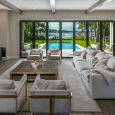 Neutral Great Room With Water View