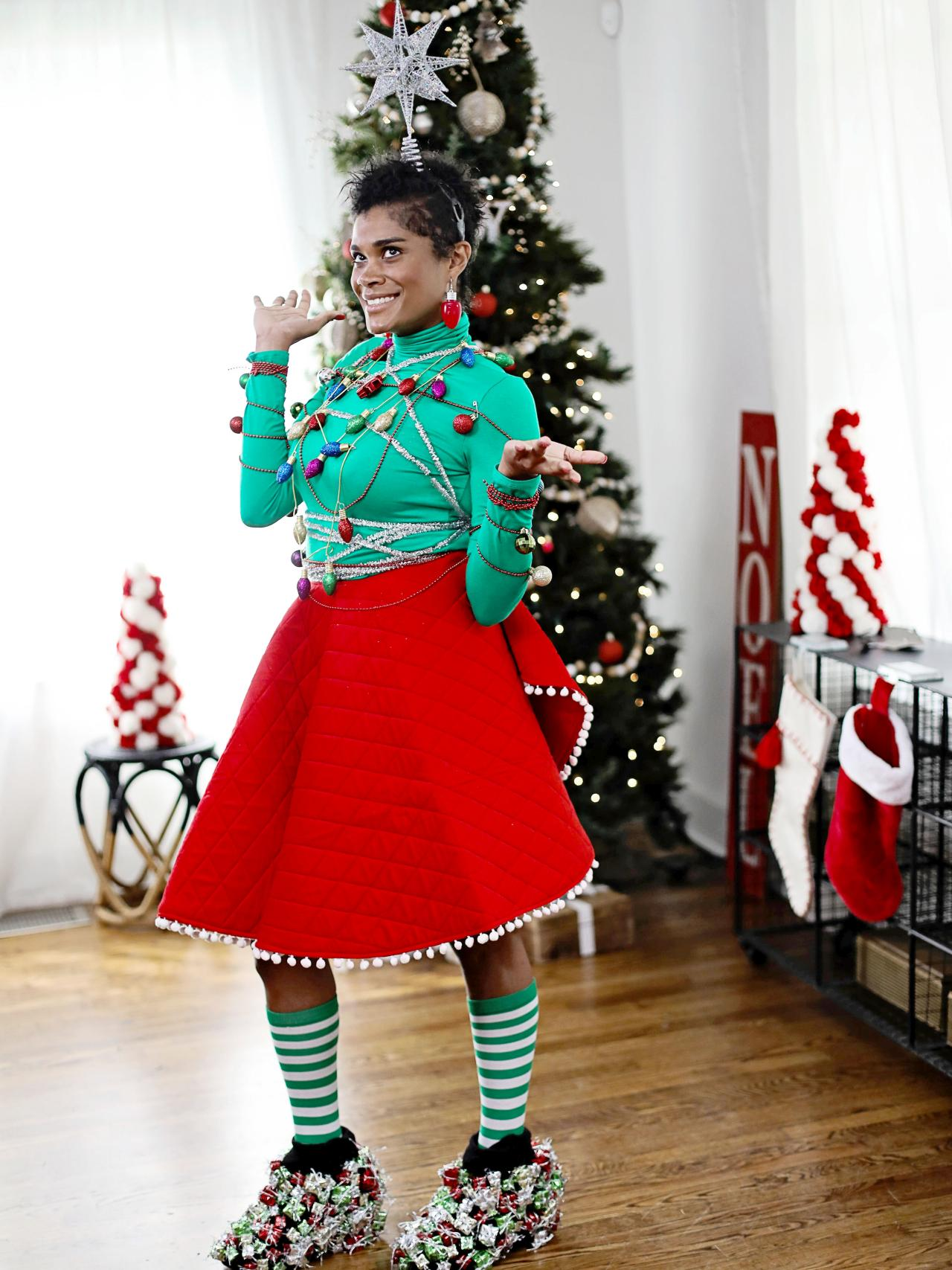 How To Make An Ugly Christmas Sweater Inspired Outfit Hgtv
