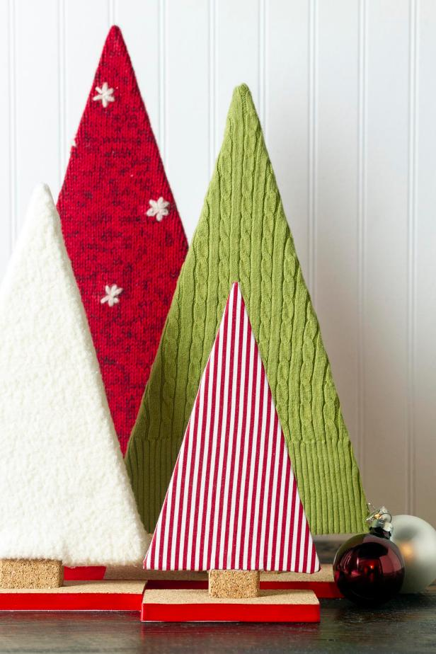 Make your own fabric tree decor for the holidays.