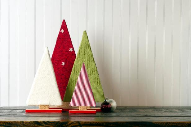 HGTV shows you how to make your own fabric tree decor for the holidays.