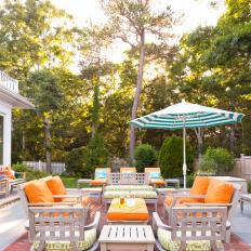 Deck Enlivened By Orange, Blue Accents