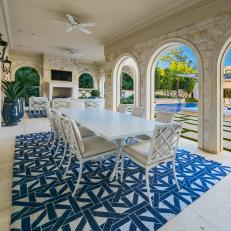 Dining Space With Dreamy Stone Archways