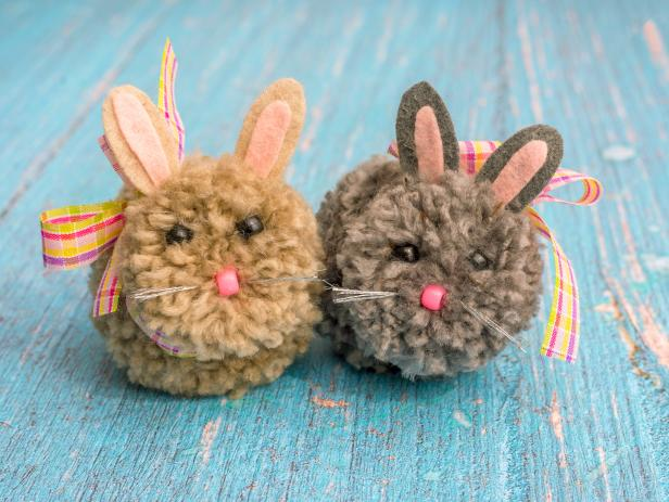 Easter PomPom Bunnies