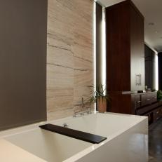 Large, Modern Soaker Tub in Master En Suite