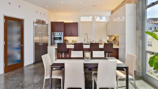 Ultra Modern, Open Concept Kitchen and Dining Room | HGTV