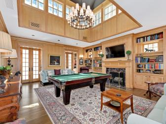 Traditional Game Room With Paneling