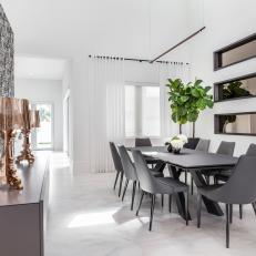 Natural Light Makes Neutral Dining Room Feel Warm and Open