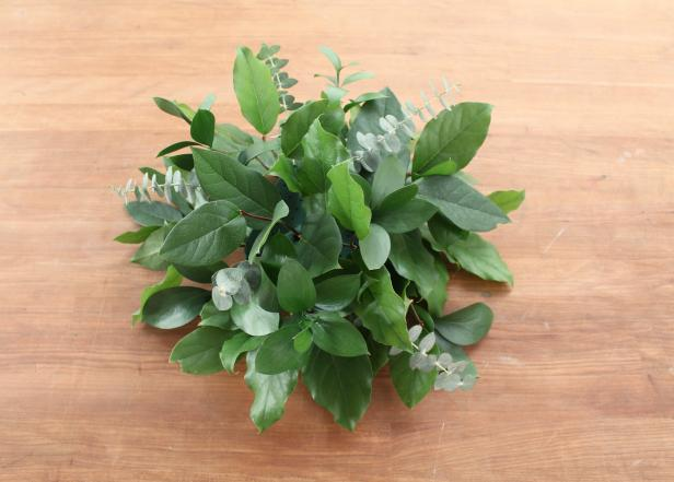 DIY Floral Foam Arrangement: Adding Greenery