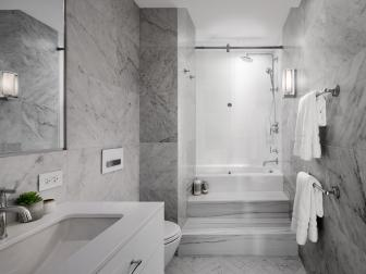 Modern Bathroom With Marble Tile