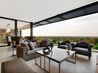 Penthouse Balcony With Landscape View