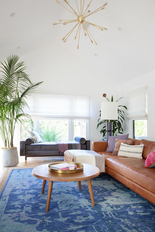 Royal Blue Rug Defines Contemporary Living Room Hgtv