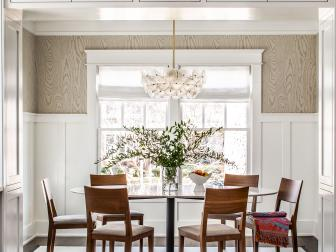 Two-Toned Dining Room Infused With Earth Tones