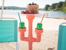 Keep your drink cold and free of sand with this clever DIY project.